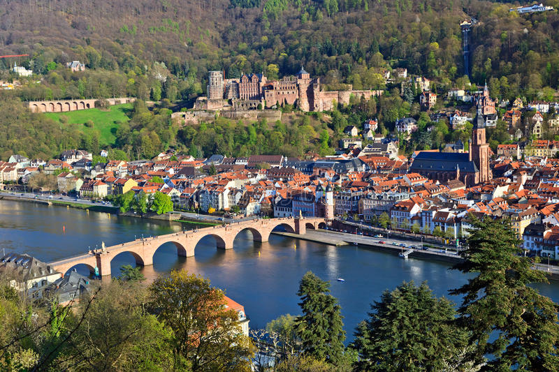 Download Heidelberg at spring stock photo. Image of afternoon - 15223572