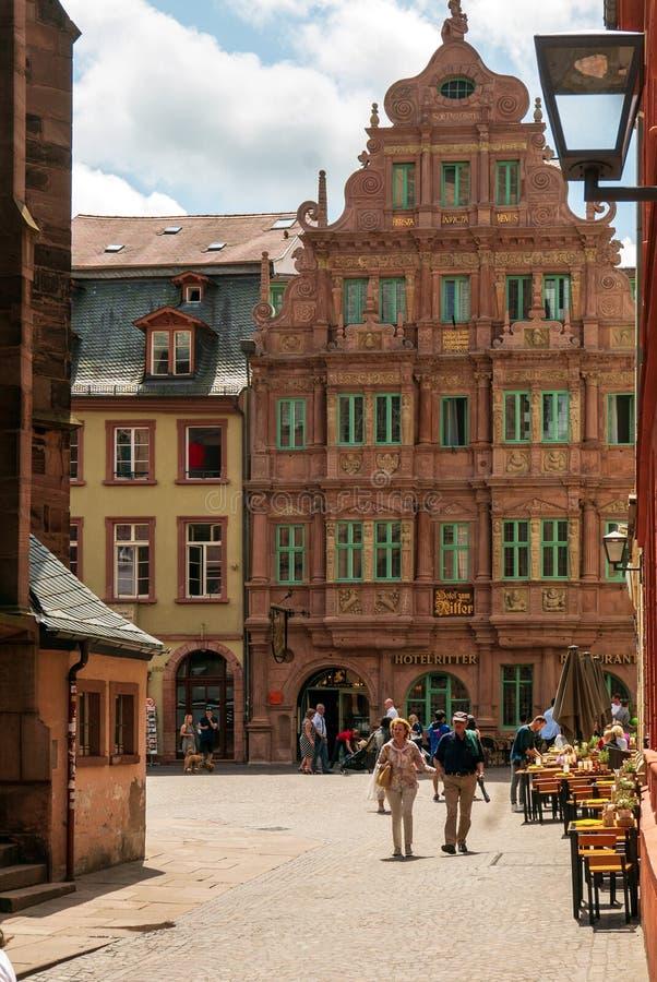 HEIDELBERG, St Georg de Ritter de zum d'hôtel image stock