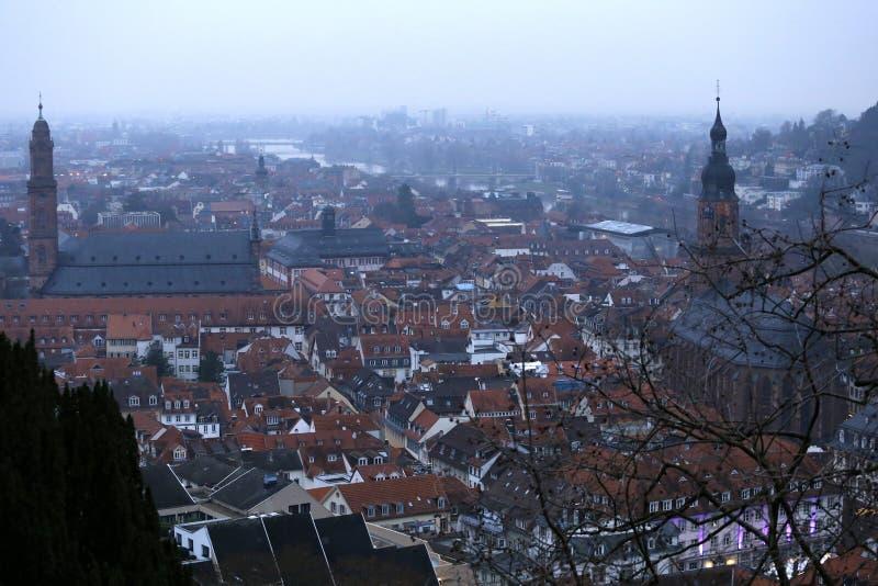 Heidelberg vom Schloss stockbilder