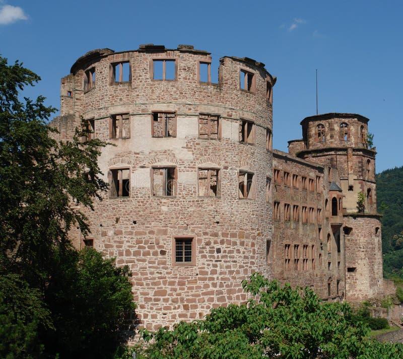 Heidelberg z zamku ruin fotografia stock