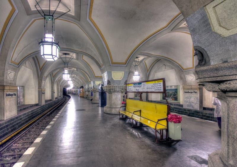Heidelberger Platz U-Bahn obrazy stock