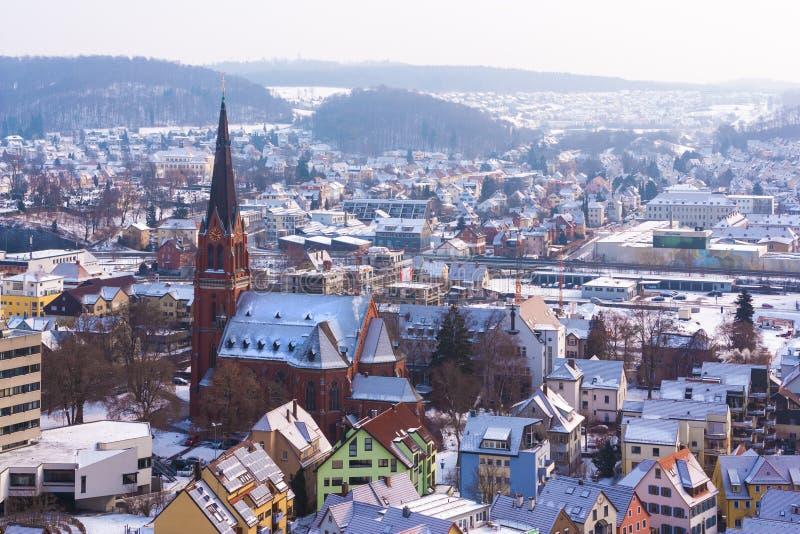 Heidenheim no inverno fotos de stock
