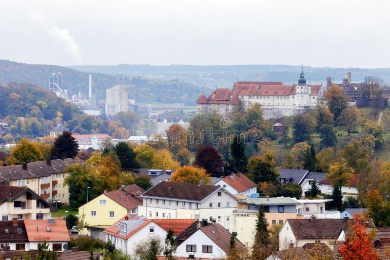 Heidenheim un der Brenz en otoño fotos de archivo libres de regalías