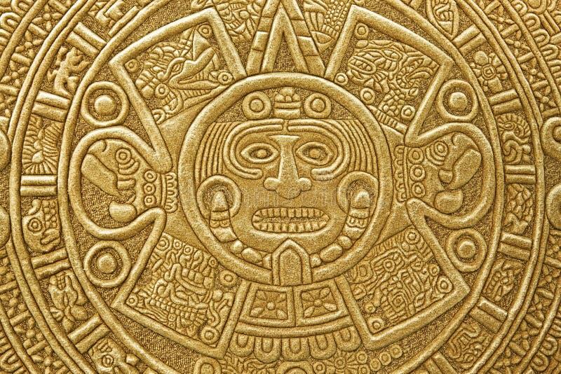 Heidens ornament een zonsteen stock afbeelding