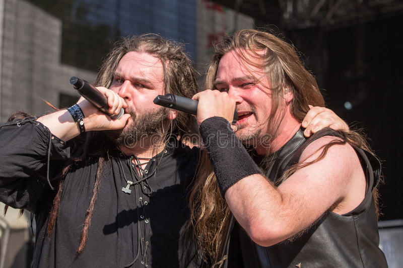 Heidevolk at Metalfest 2015 stock photos