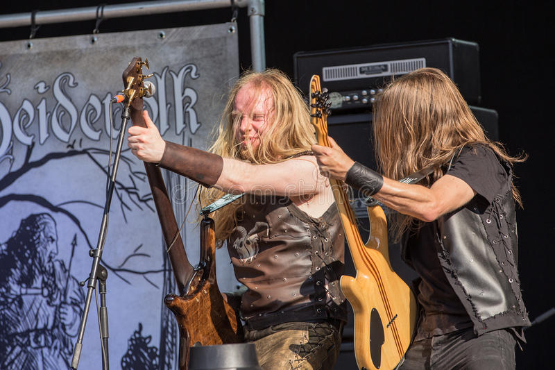 Heidevolk at Metalfest 2015 stock photo