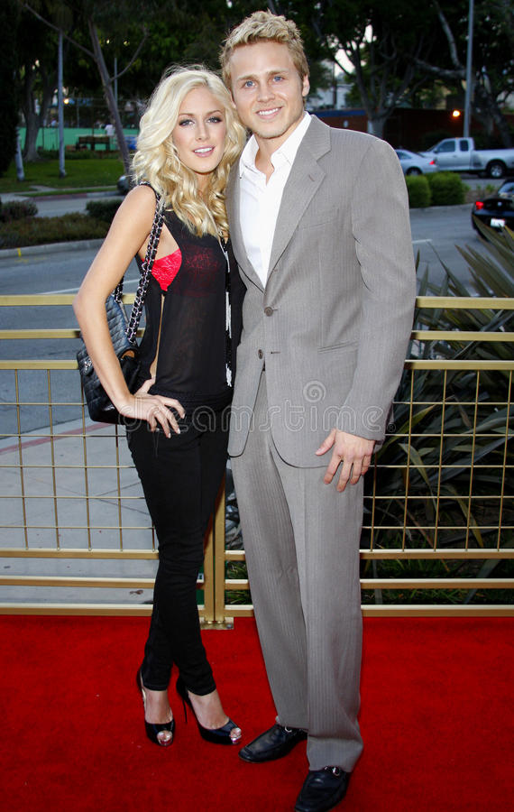 Heidi Montag und Spencer Pratt stockbild