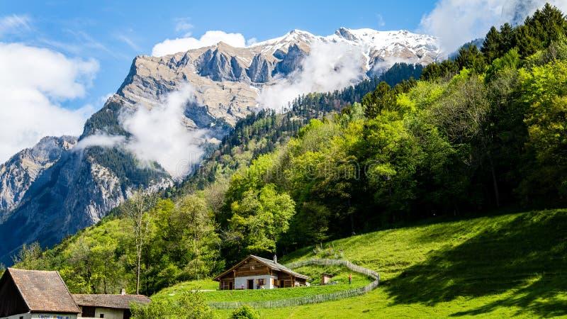 Heididorf, το χωριό της Heidi στις ελβετικές Άλπεις, Ελβετία στοκ φωτογραφία