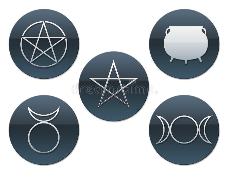 Heidnische Symbole stock abbildung