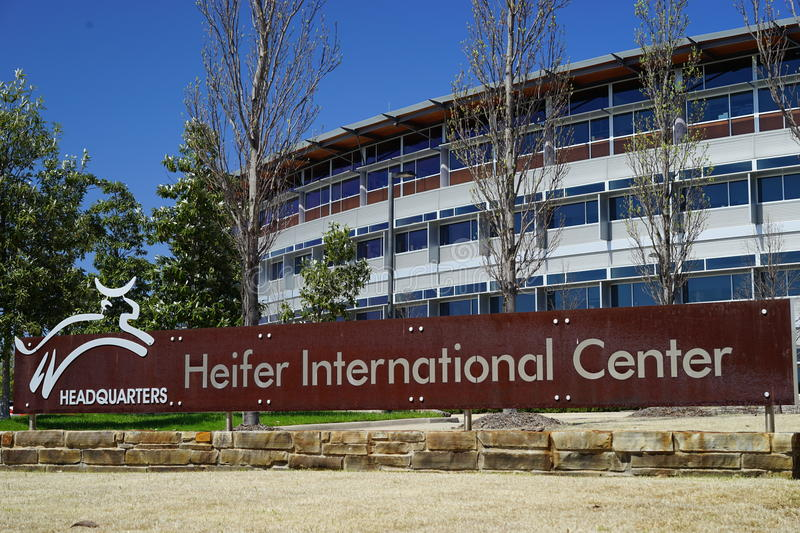 Heifer International Center headquarters. Heifer International, a non-profit organization in Little Rock, AR works with third world village farmers. It donates royalty free stock images