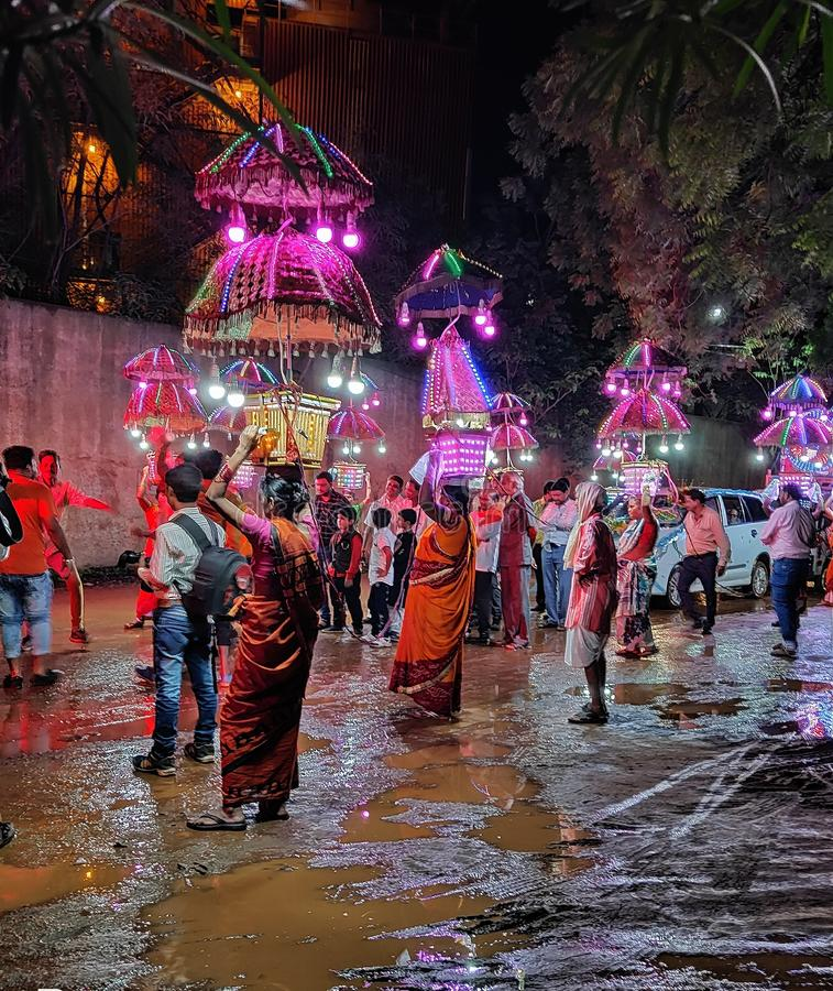 Heighlites do barat indiano na estação das chuvas imagem de stock