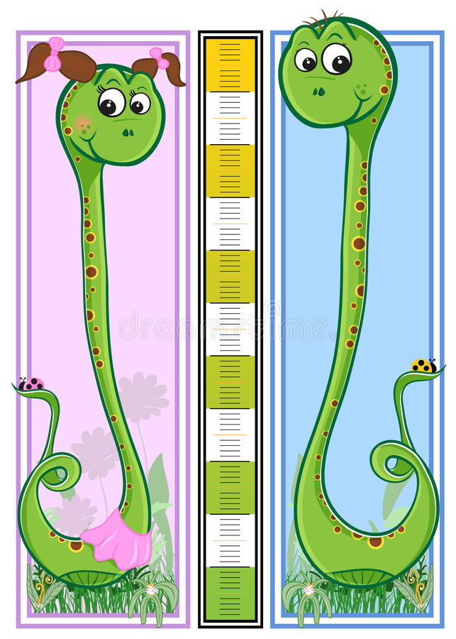 Height Children S Scale - Snakes Royalty Free Stock Photography
