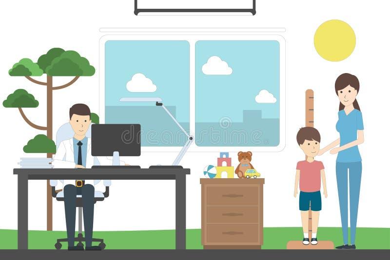 Height measurement for children. stock illustration