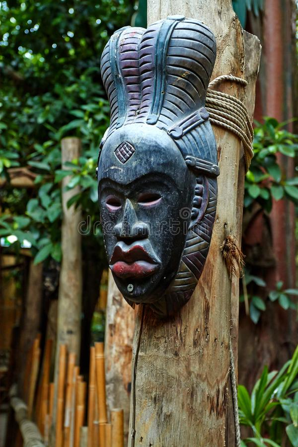 Mask in the jungle park. royalty free stock photos
