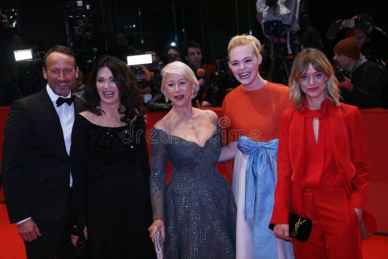Heike Makatsch, Elle, Helen Mirren, Iris Berben en Wota die waaien royalty-vrije stock afbeeldingen