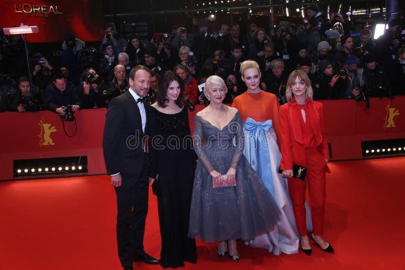 Heike Makatsch, Elle, Helen Mirren, Iris Berben en Wota die waaien stock afbeelding