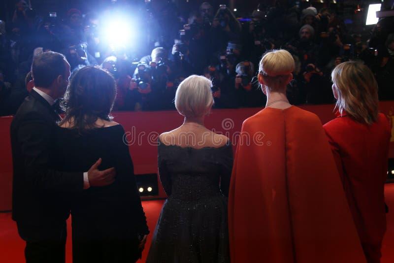 Heike Makatsch, Elle, Helen Mirren, Iris Berben en Wota die waaien stock fotografie