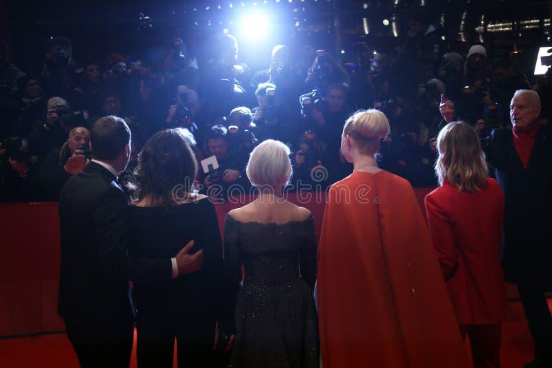 Heike Makatsch, Elle, Helen Mirren, Iris Berben en Wota die waaien stock foto