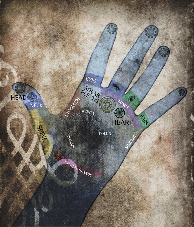 Heilende Hände lizenzfreie abbildung