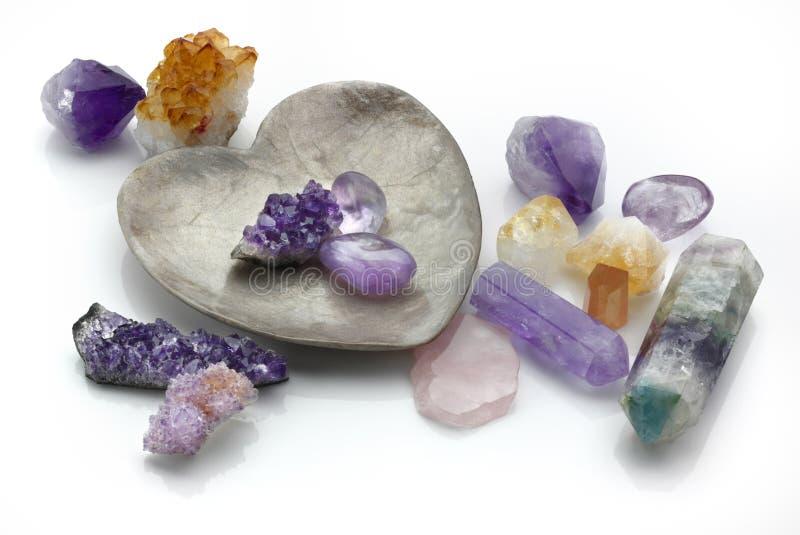 Heilende Kristalle stockbilder