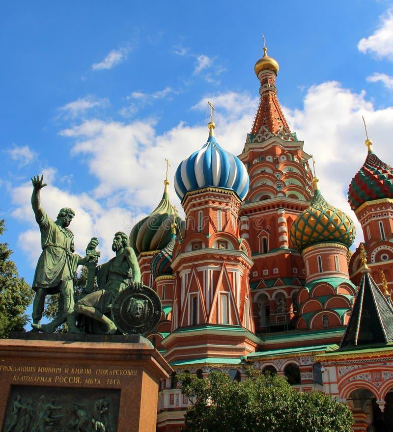 Heilig-Basil Cathedral-Kuppel, Moskau, Russland stockbild