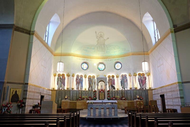 Heilig-Blaise-Kirche in Zagreb stockfotos