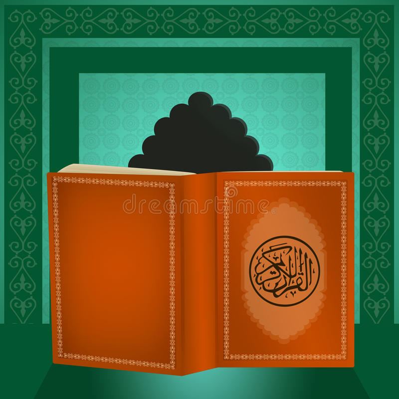 Heilig boek van Koran stock illustratie