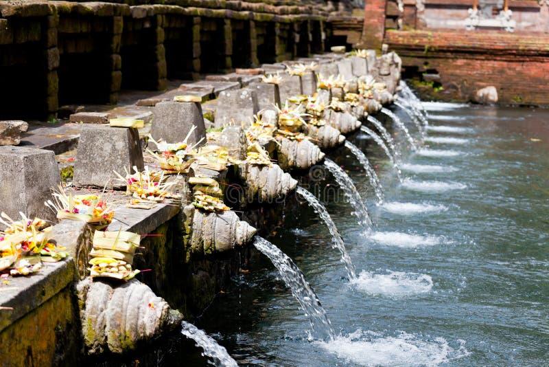 Heilig bronwater in tirta empul royalty-vrije stock foto's