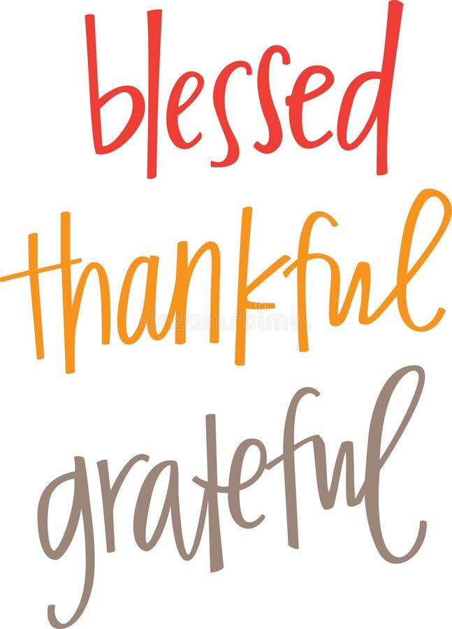 Heilig, Dankbaar, Dankbaar stock illustratie