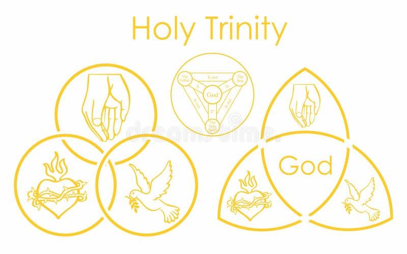 Heilig Drievuldigheidssymbool Christelijk heilig symbool royalty-vrije illustratie