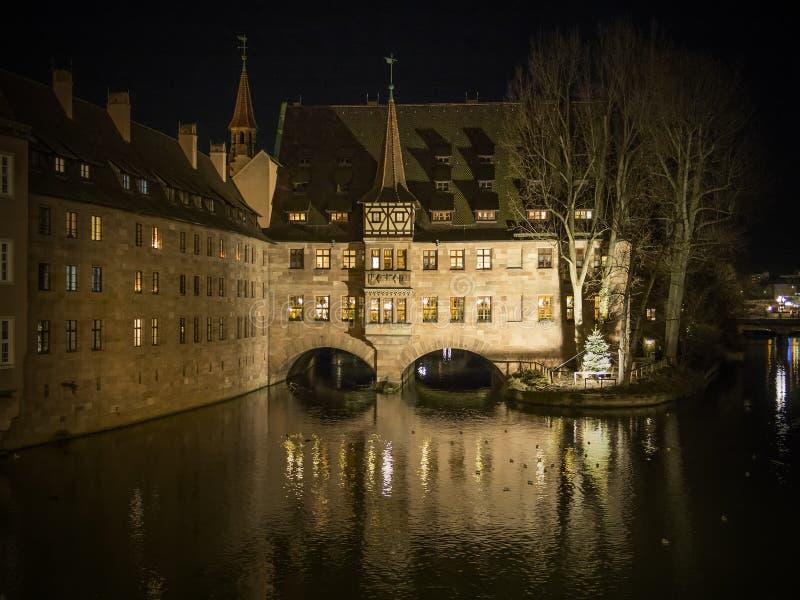 Heilig Geist Spital Nuremberg Allemagne image libre de droits