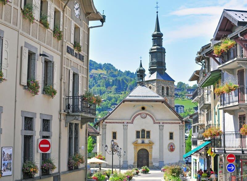 Heilig-Gervais-les Bains, Frankreich stockfotos