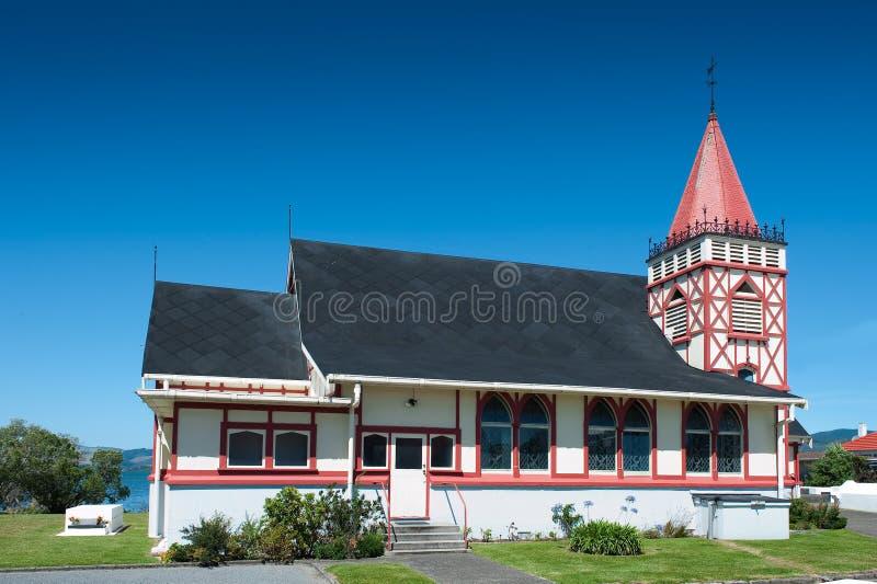 Heilig-Glauben-Kirche, Rotorua stockbild