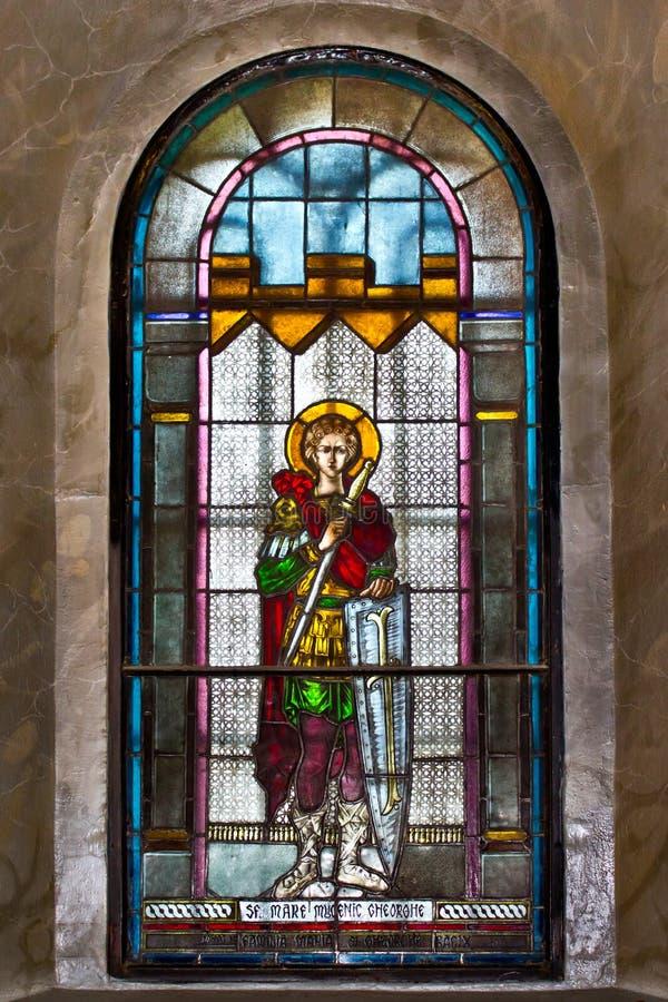 Heilig-großer Märtyrer George - Sfantul Gheorghe stockfotos