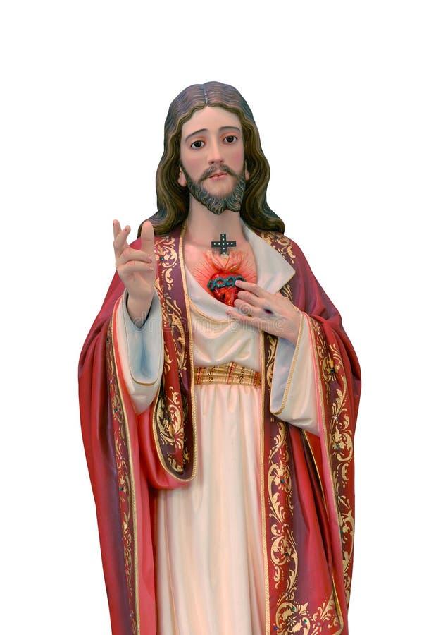 Heilig Hart van het standbeeld van Jesus stock foto