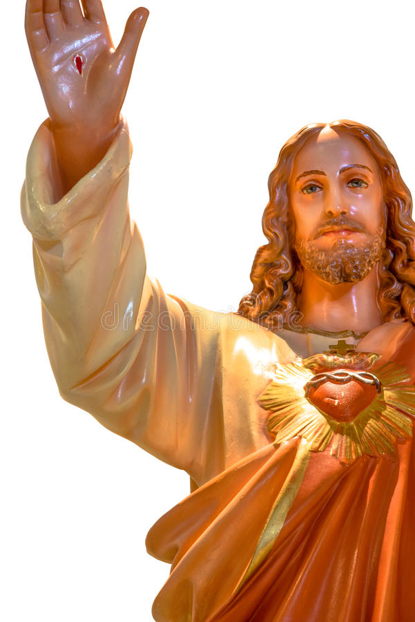 Heilig Hart van het standbeeld van Jesus stock afbeelding