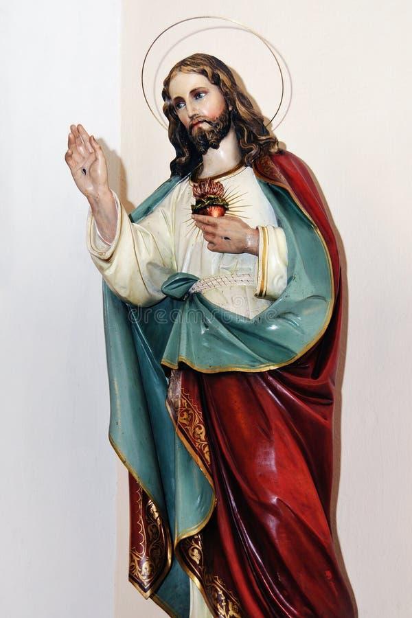 Heilig Hart van Jesus stock foto