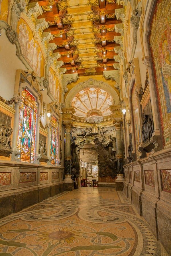 Heilig-Ignatius de Loyola-Höhleneingang stockfoto