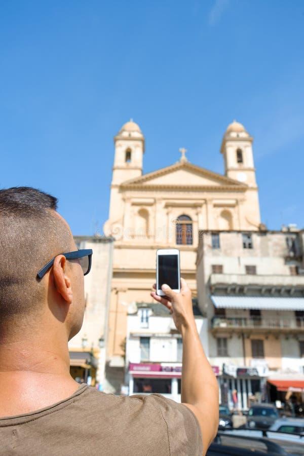 Heilig-Jean--Baptistekirche in Bastia, Frankreich stockfotos