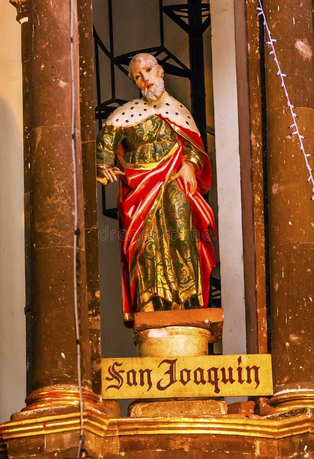 Heilig-Joaquin Statue Mary-` s Vater Convent San Miguel Mexiko lizenzfreie stockfotografie