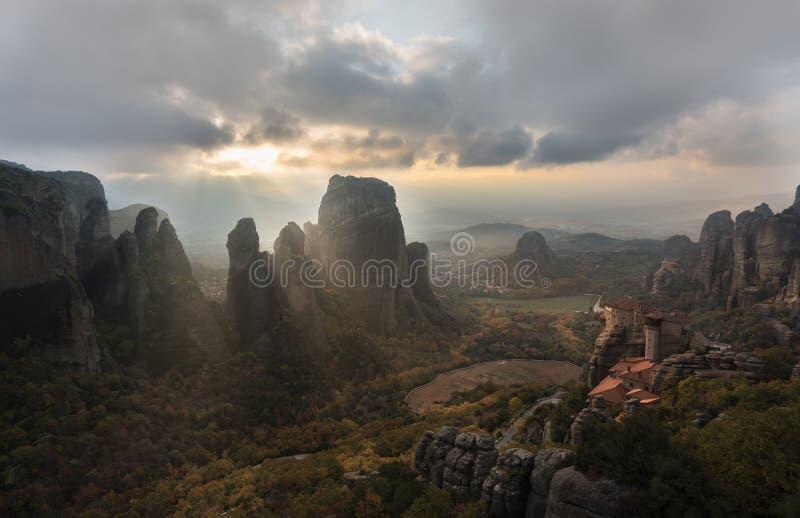 Heilig land van Meteora royalty-vrije stock afbeelding