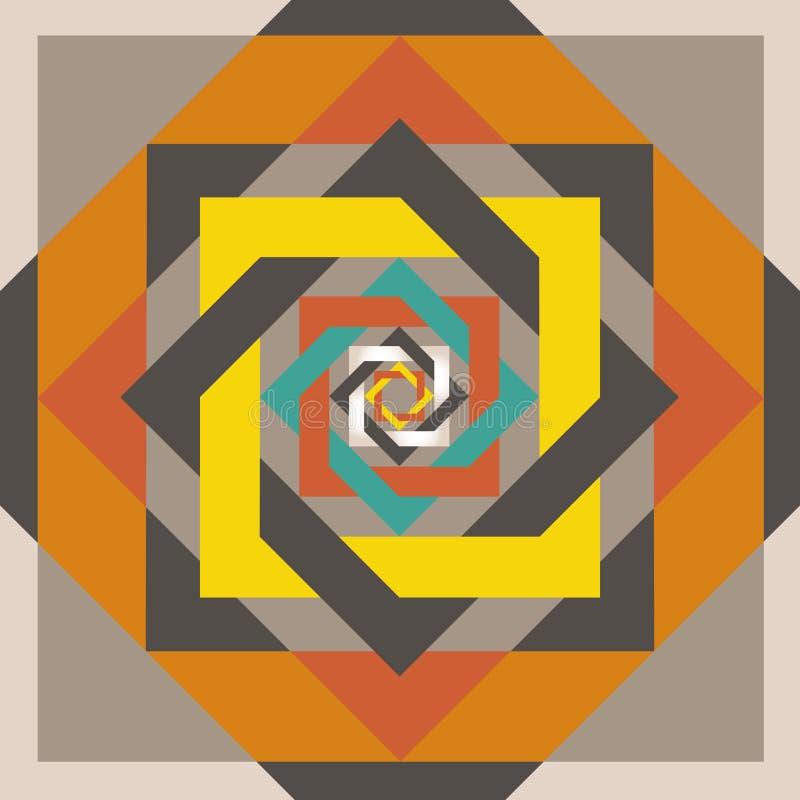 Geometrisch ontwerp squeare in een vierkant stock illustratie