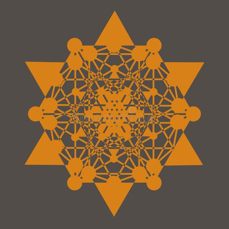 De druk van de Tetrageder van de ster royalty-vrije illustratie