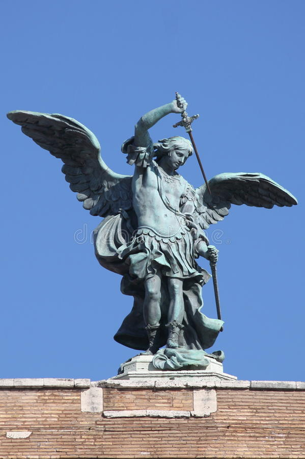 Heilig-Michael-Erzengel lizenzfreies stockbild