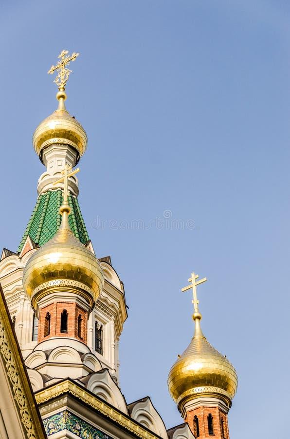 Heilig-Nicholas Cathedral Vienna Austria-Touristenanziehungskraft lizenzfreie stockbilder
