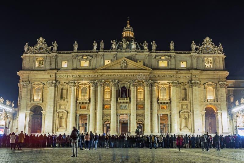 Heilig-Peter Basilica-Gebäude in Vatikan Rom stockfotografie