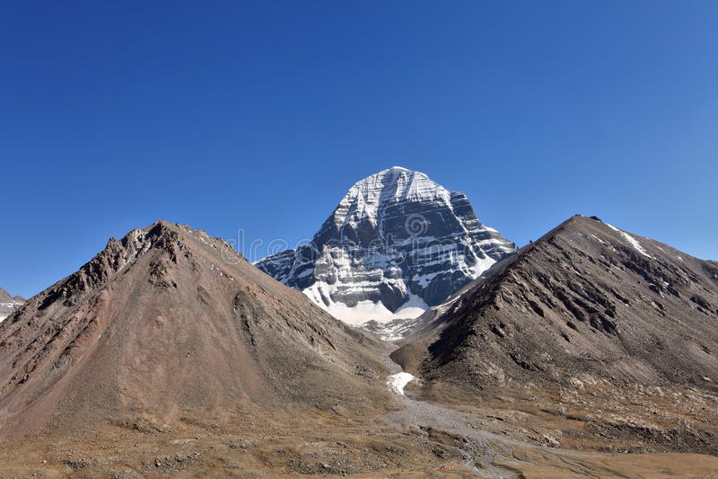 Heilig zet Kailash op stock foto