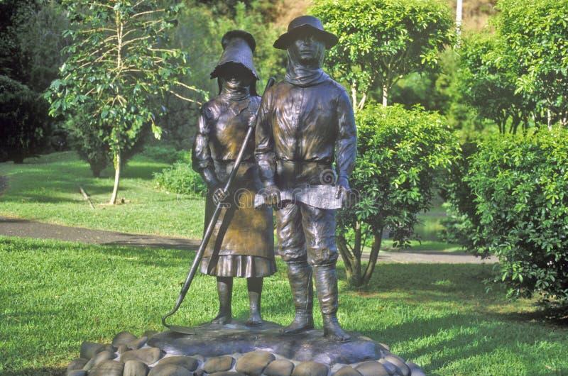 Heiligdom aan Japanse Kolonisten in Iao-het Park van de Naaldstaat, Maui, Hawaï stock foto