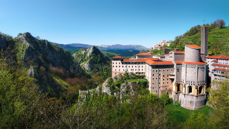 Heiligdom van Arantzazu royalty-vrije stock foto's
