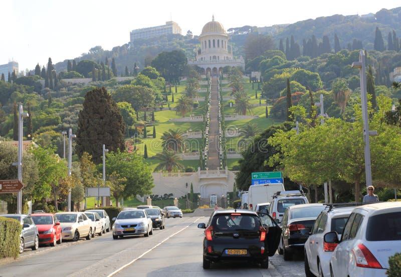 Heiligdom van Bahai in Haifa royalty-vrije stock foto